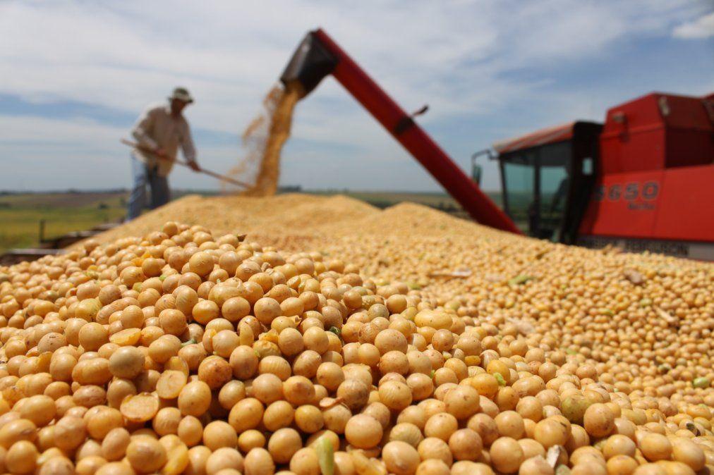 Las exportaciones de soja motorizaron el superávit comercial.