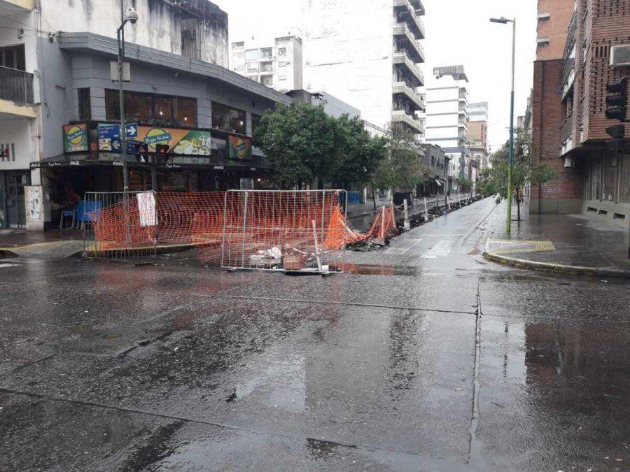 Hallaron cemento en el sistema cloacal de San Juan al 400