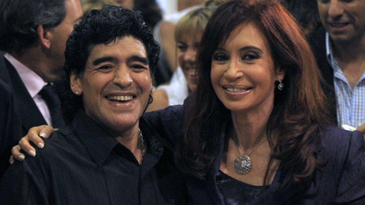 Diego acompañó siempre a Cristina.
