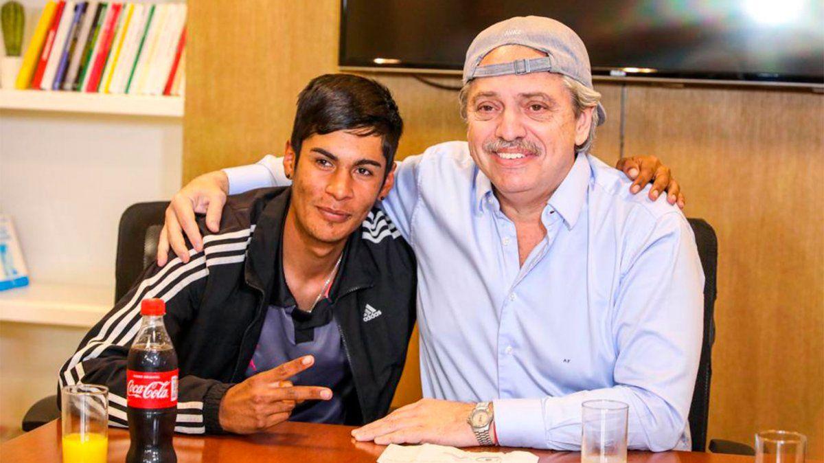 Alberto Fernández se reunió con Brian Gallo