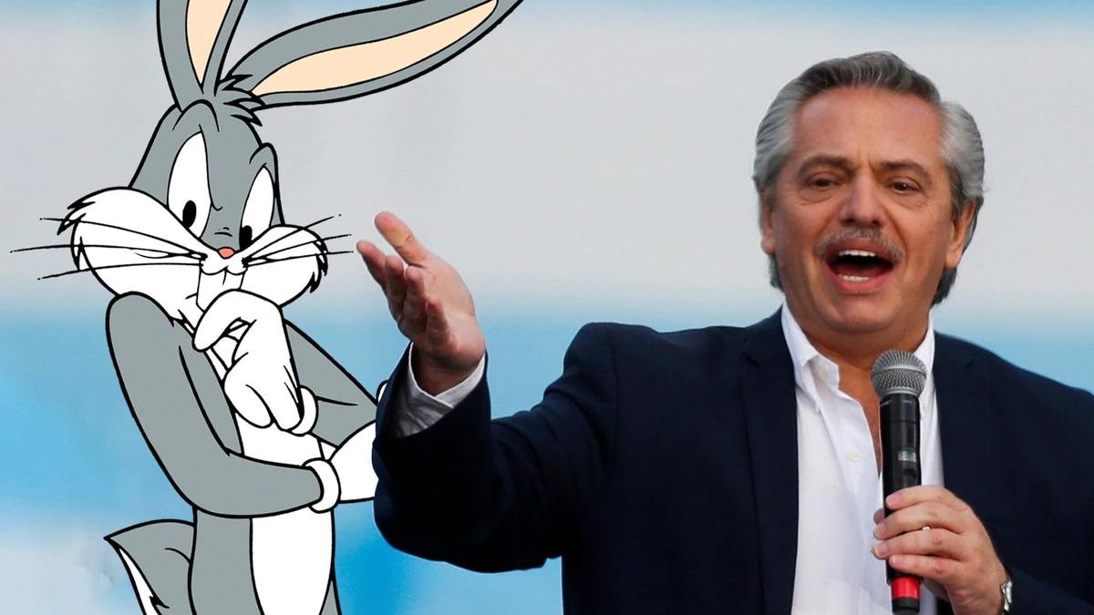 Alberto Fernández habló de Bugs Bunny y estallaron las redes