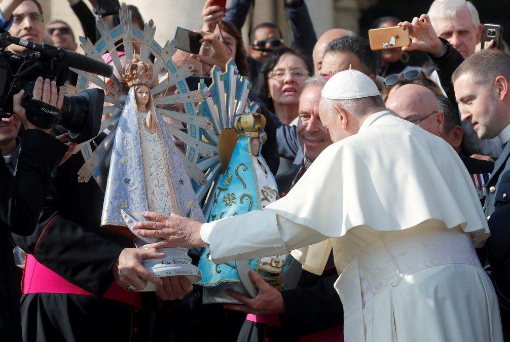 La bendición del papa Francisco.