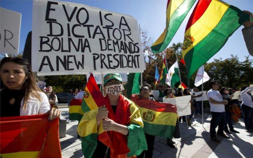 Protesta contra Morales
