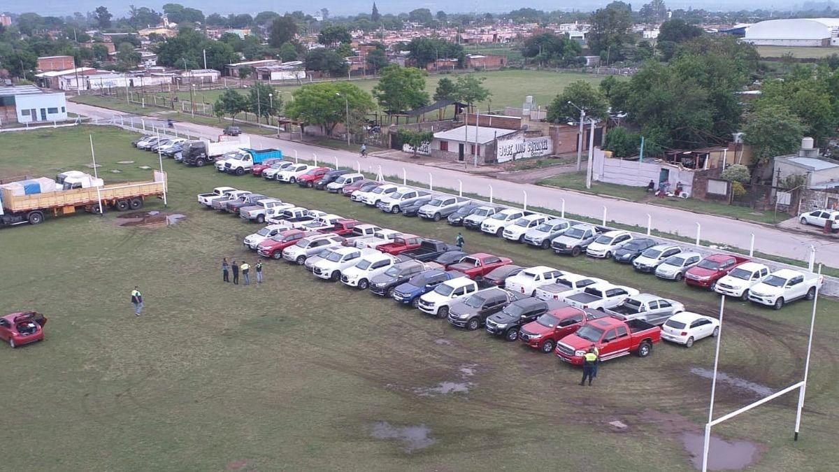 Detienen a catorce personas, secuestraron 80 vehículos y dinero