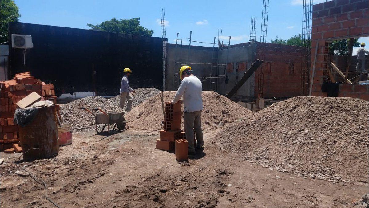 Avanzan las obras de construcción de la nueva Comisaría 10
