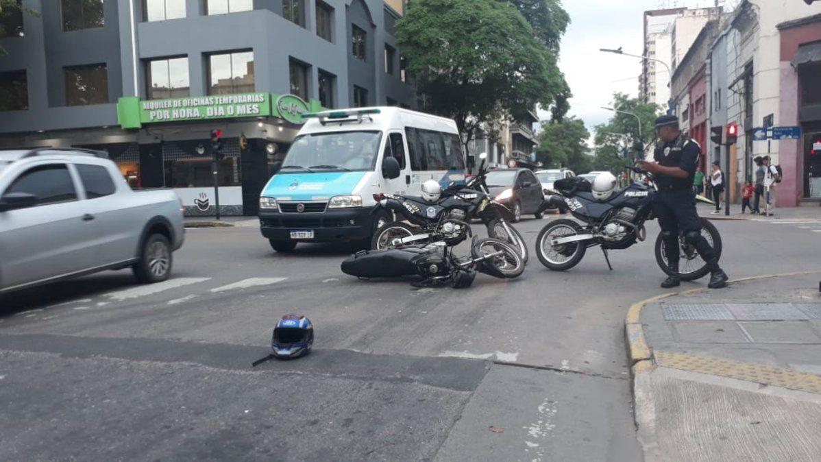 Dos motocicletas chocaron en Salta y 24 de Septiembre