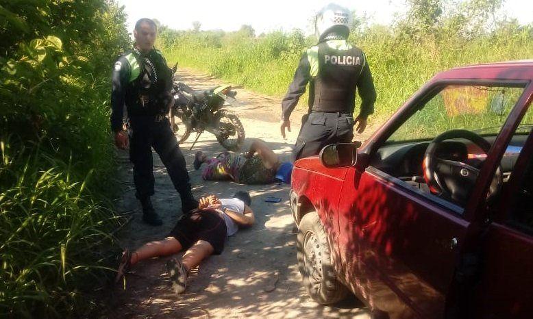 Los sospechosos fueron atrapados en Aguilares.