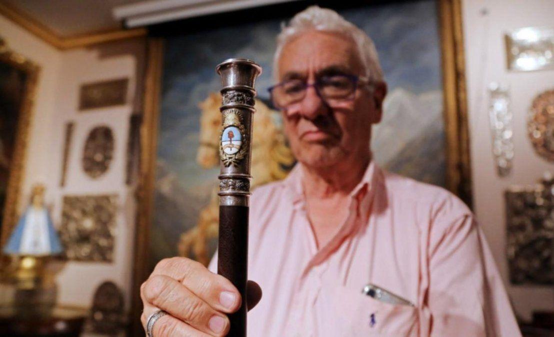 El bastón antigrieta que Pallarols fabricó para Fernández
