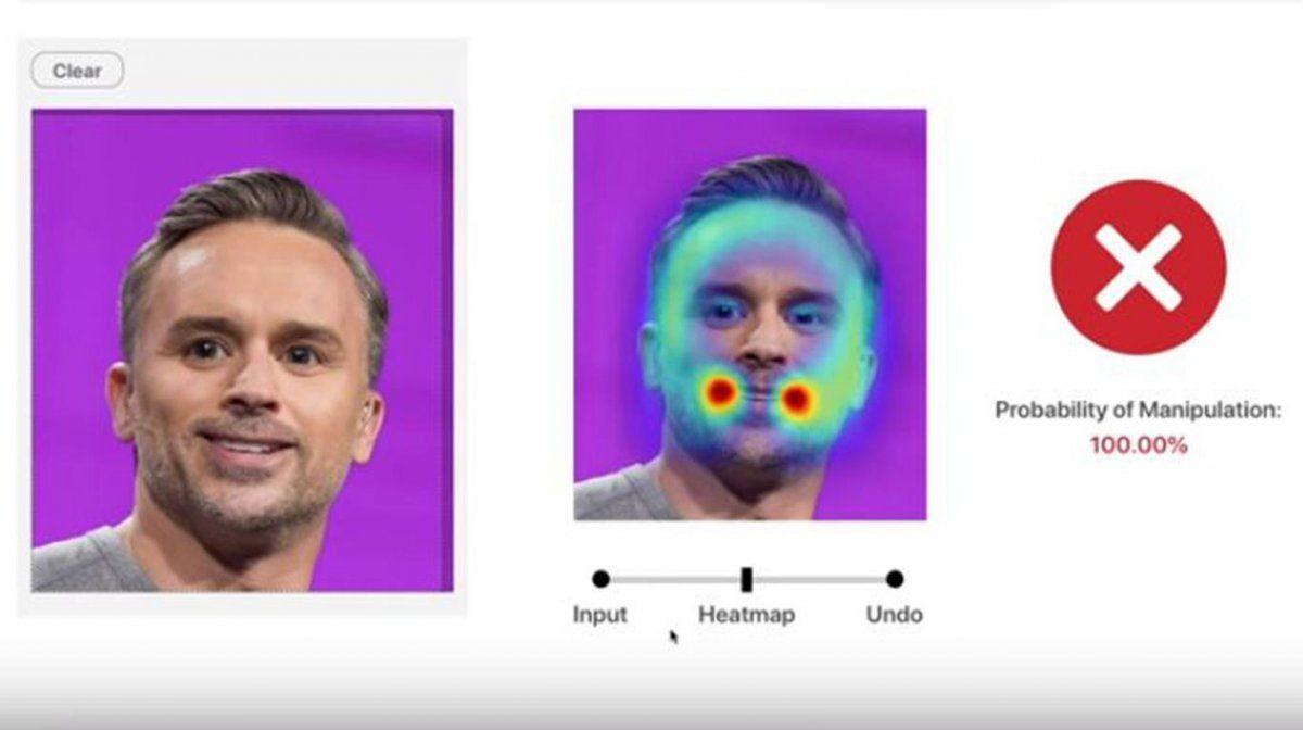 Una foto que el sistema reconoció como photoshopeada