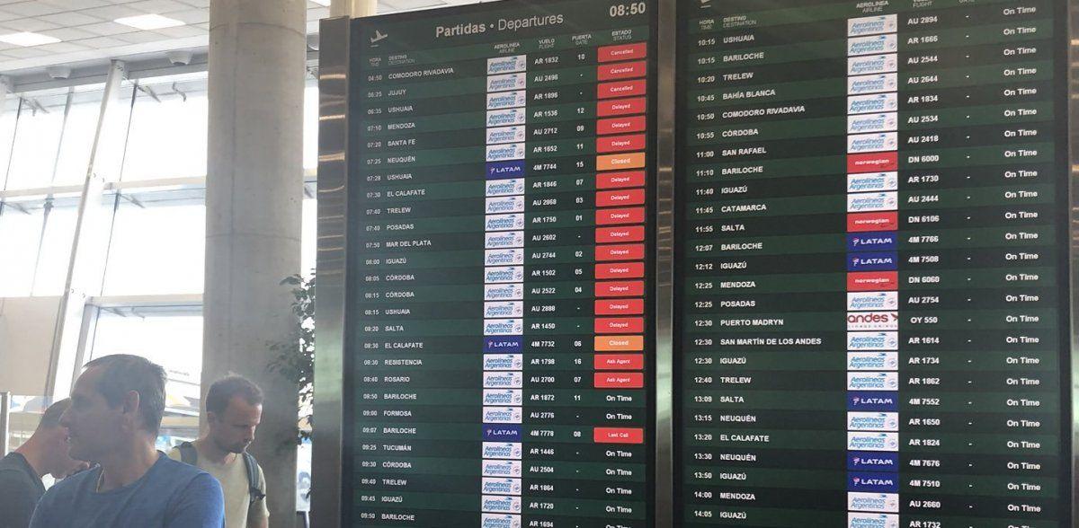 Despachantes realizan un paro y demoran vuelos