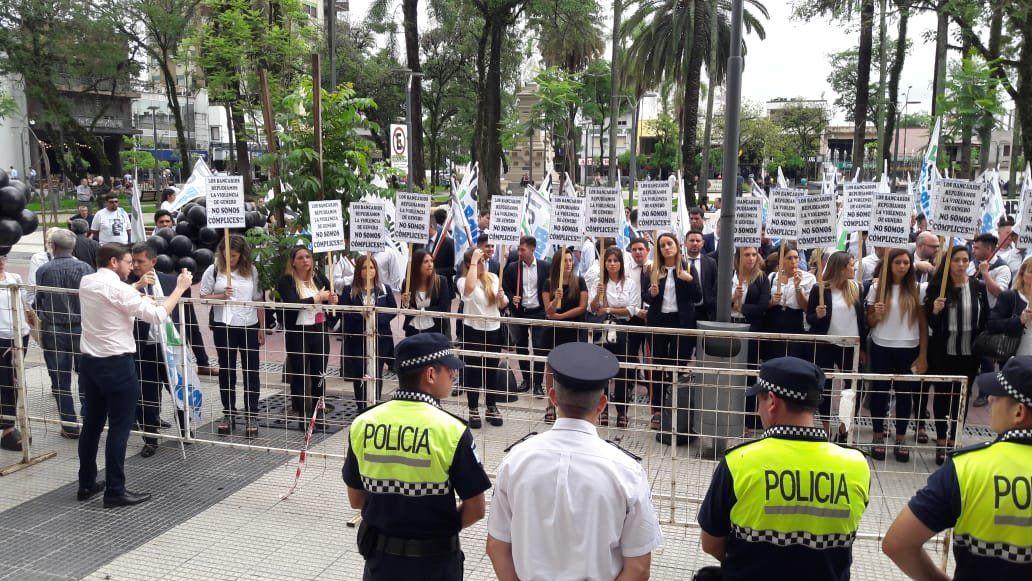 Protesta de la Bancaria en Concepción