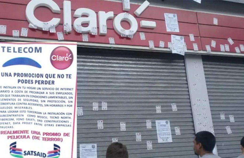 SATSAID denuncia a Telecom y Claro por precarización laboral