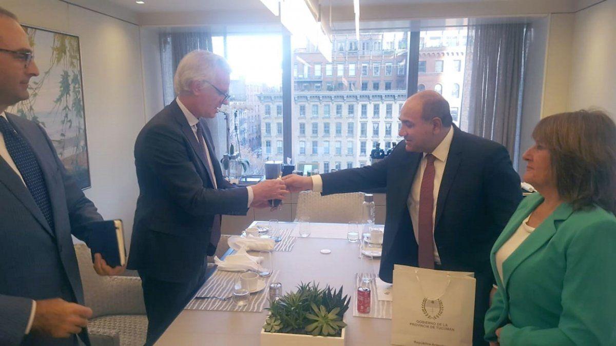 Reunión que tuvo lugar en las oficinas de la entidad bancaria en Nueva York