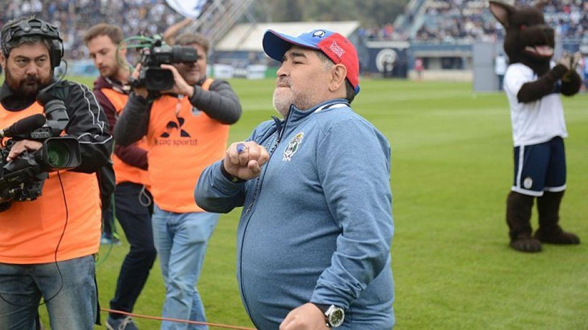 Diego Maradona seguirá siendo técnico de Gimnasia de La Plata