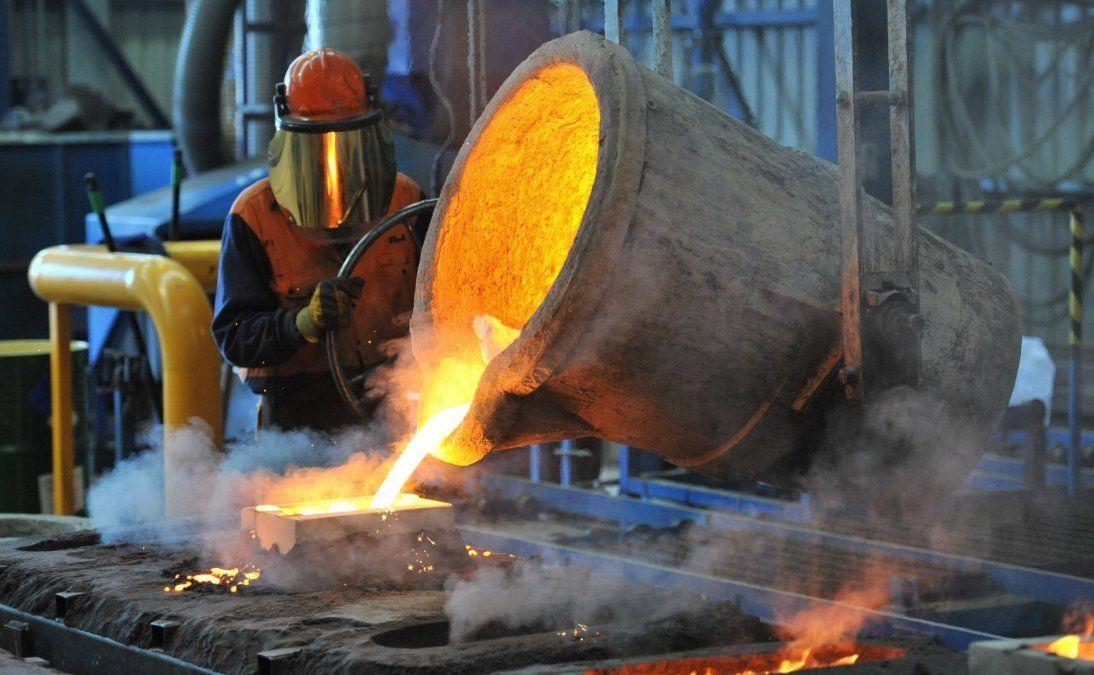 La producción siderúrgica bajó un 14,4%