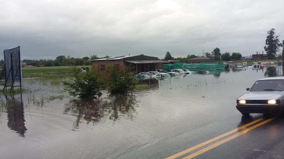 Trabajan en las zonas afectadas por las lluvias