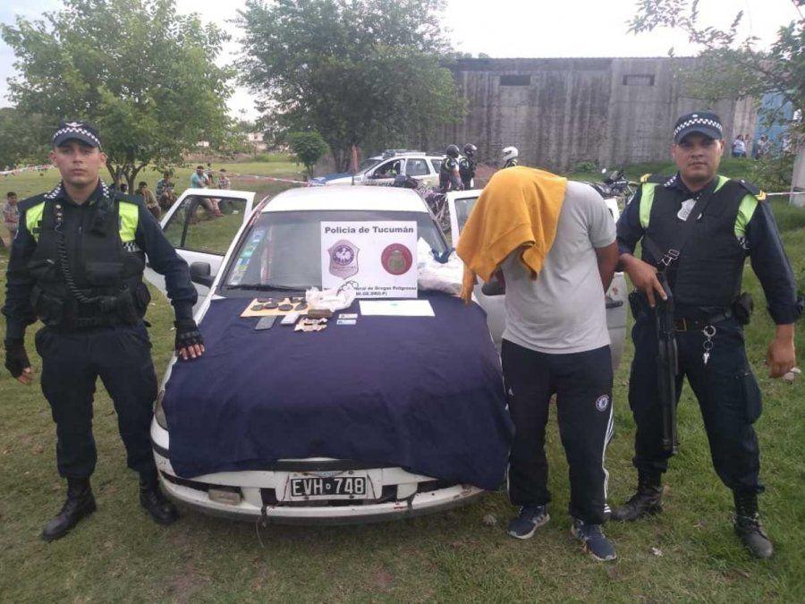 Detenido por vender estupefacientes en una cancha de Las Talitas