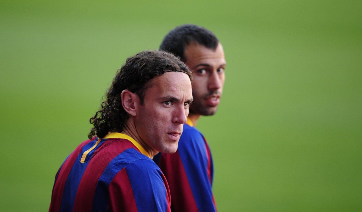 Milito fue compañero de Mascherano en Barcelona.