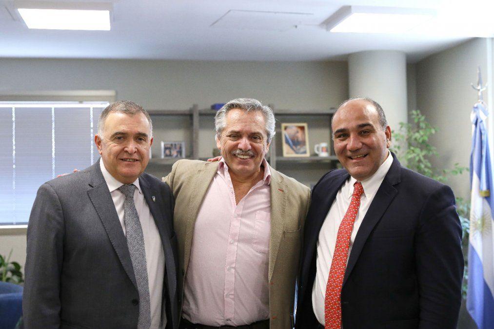 Manzur y Jaldo mantuvieron un encuentro con Alberto Fernández