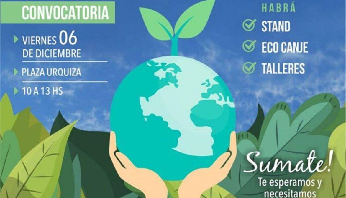 Tucumán presente en la plazaUrquiza para tirar y reciclar basura