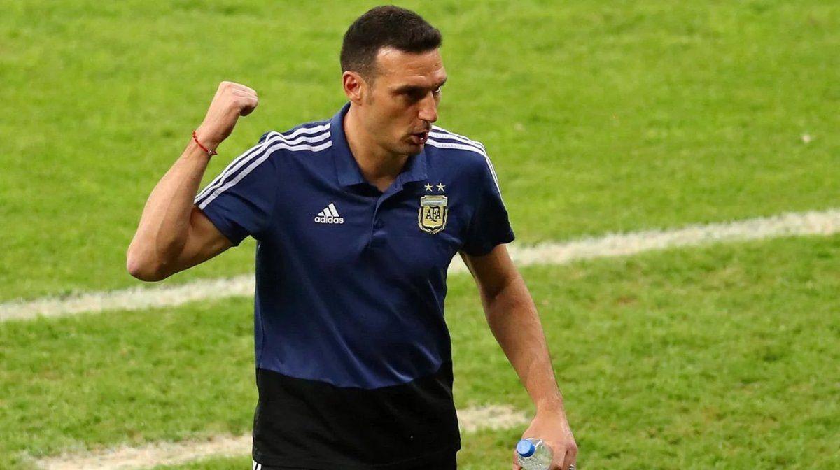 Scaloni es el DT de la Selección Argentina.