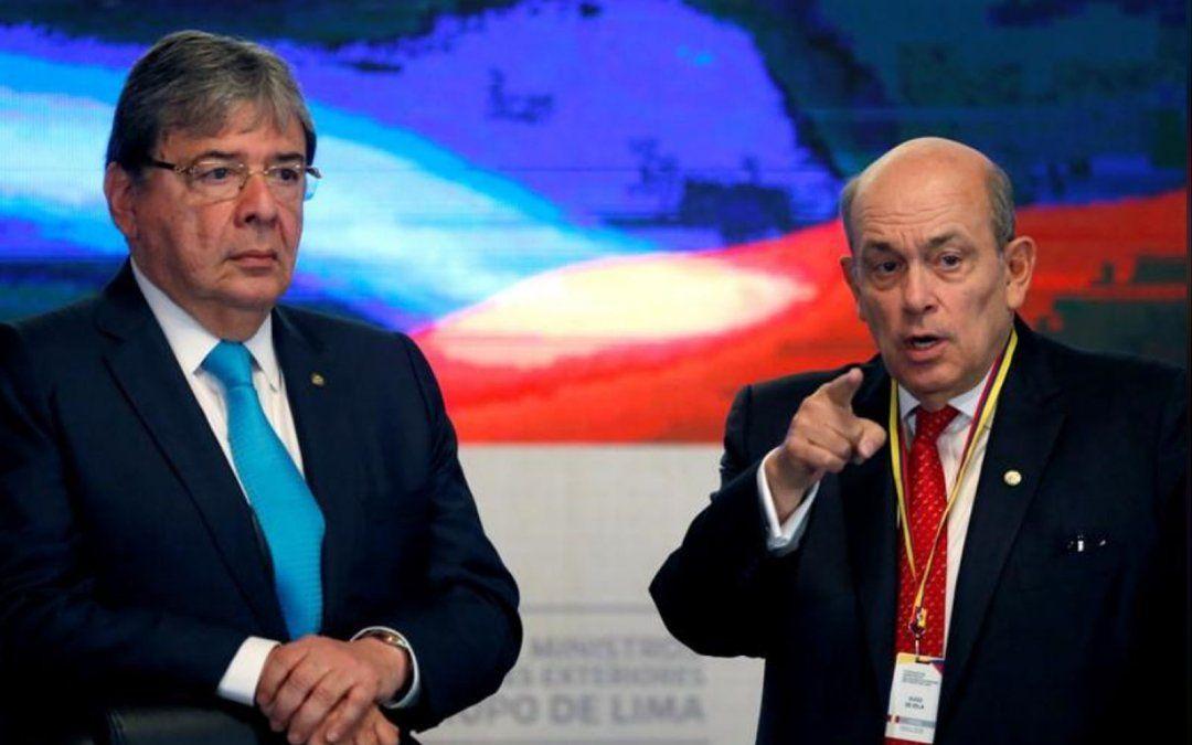 El ex canciller y ahora ministro defensa colombiano