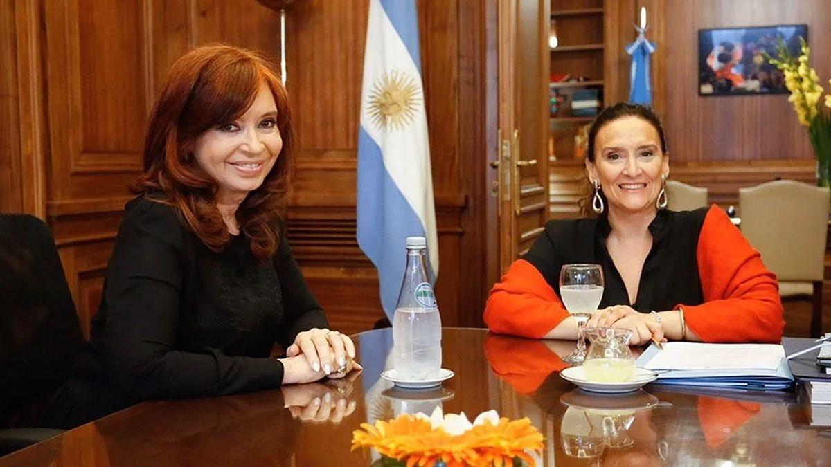 Gabriela Michetti y Cristina Kirchner se reunieron en el Senado
