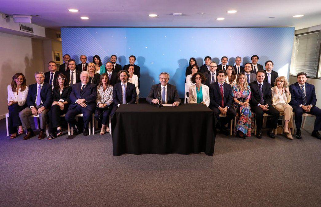 Las y los integrantes del Gabinete nacional