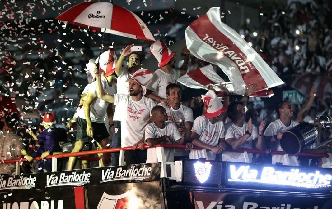 River festeja la final que le ganó a Boca en Madrid