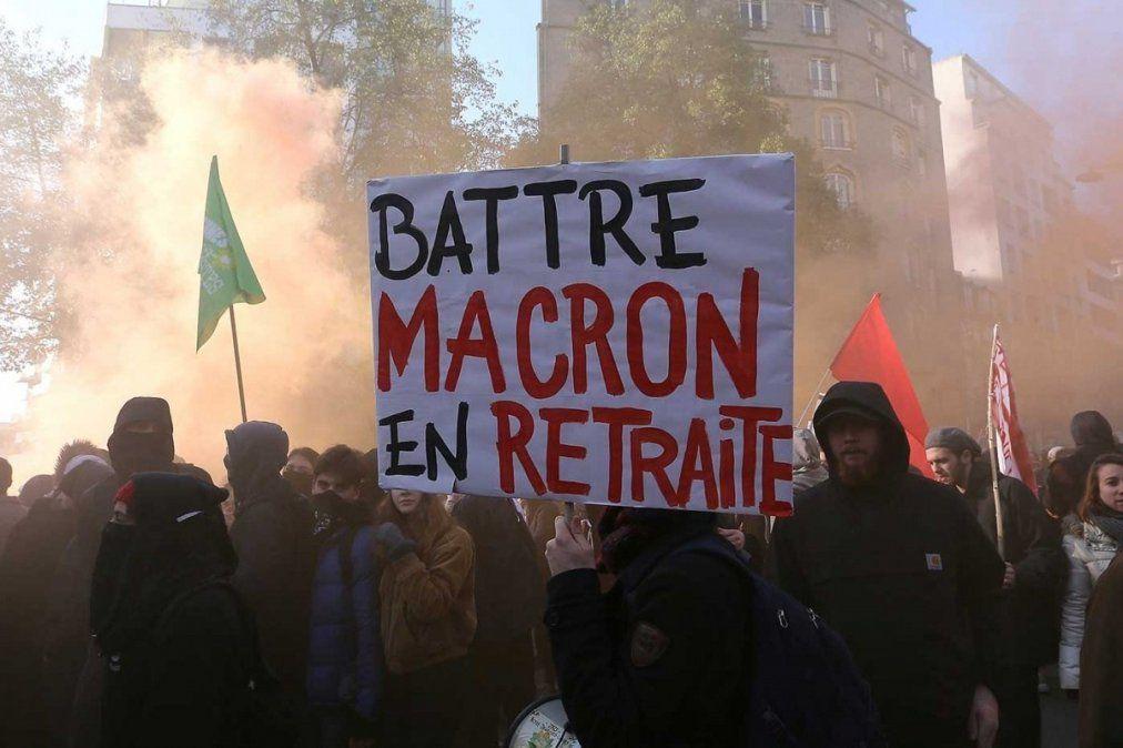 Quinto día de huelga contra la reforma previsional de Macron