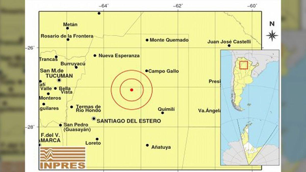 Un sismo de 6.1 grados sacudió Santiago del Estero