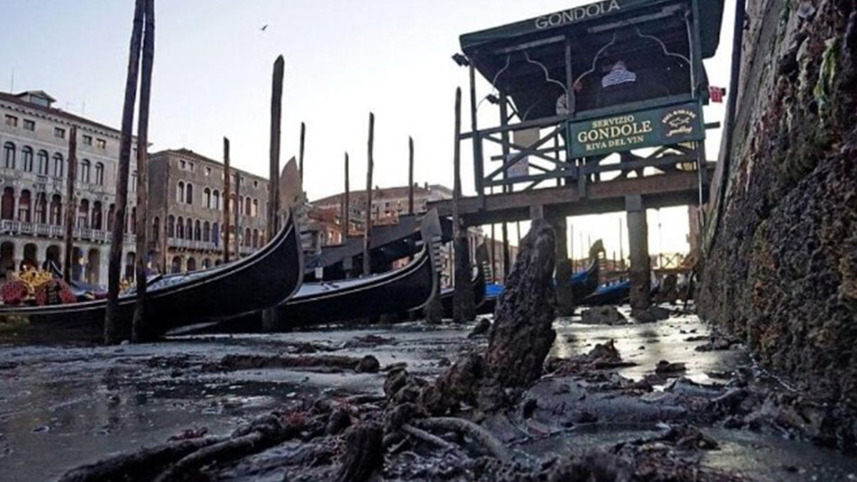 Venecia: de la inundación a la sequía