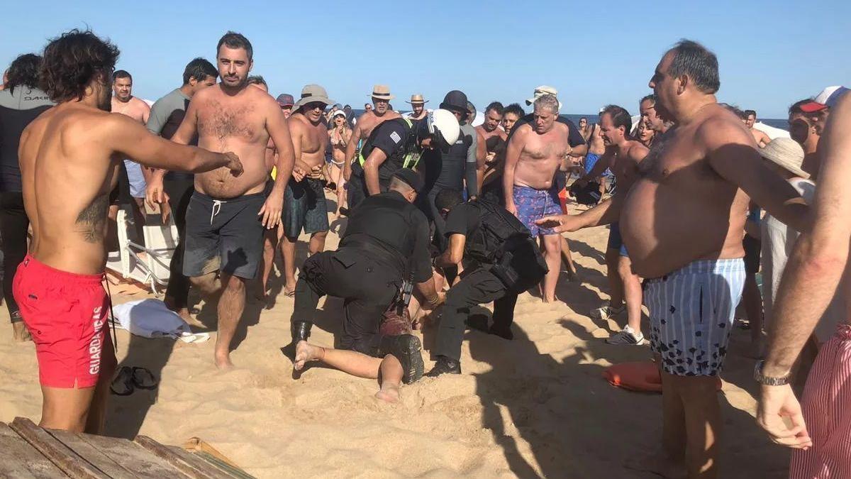 Hinchas de River protagonizaron incidentes en Punta del Este