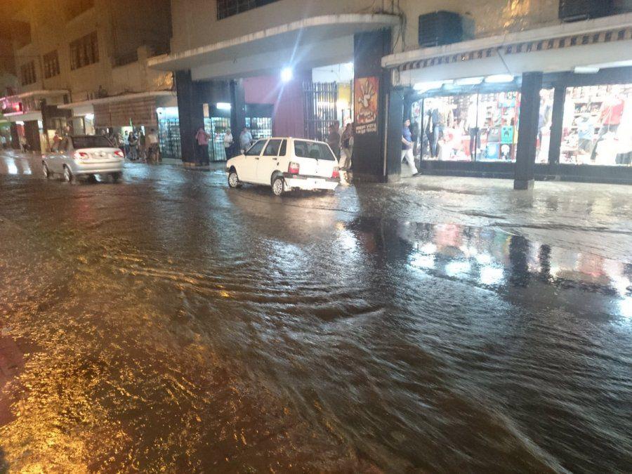La zona sur de la ciudad fue la más afectada por el temporal