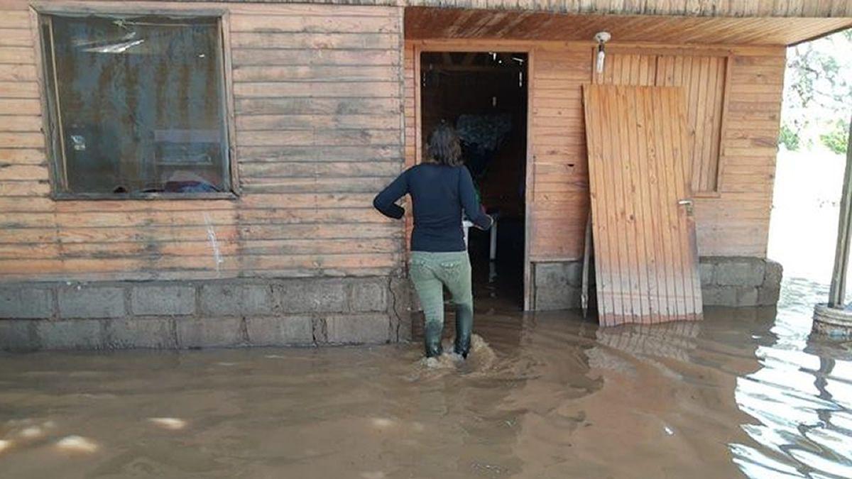 En El Tala se inundó más de la mitad del pueblo