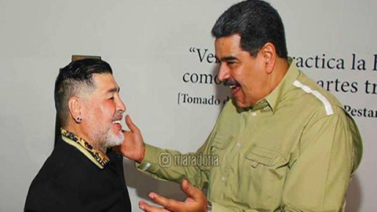 Maradona se reunió con Maduro: Aquí se respira lucha y revolución