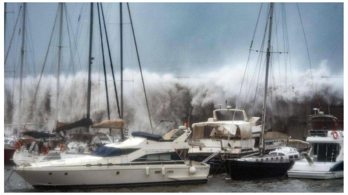 El temporal Gloria en España
