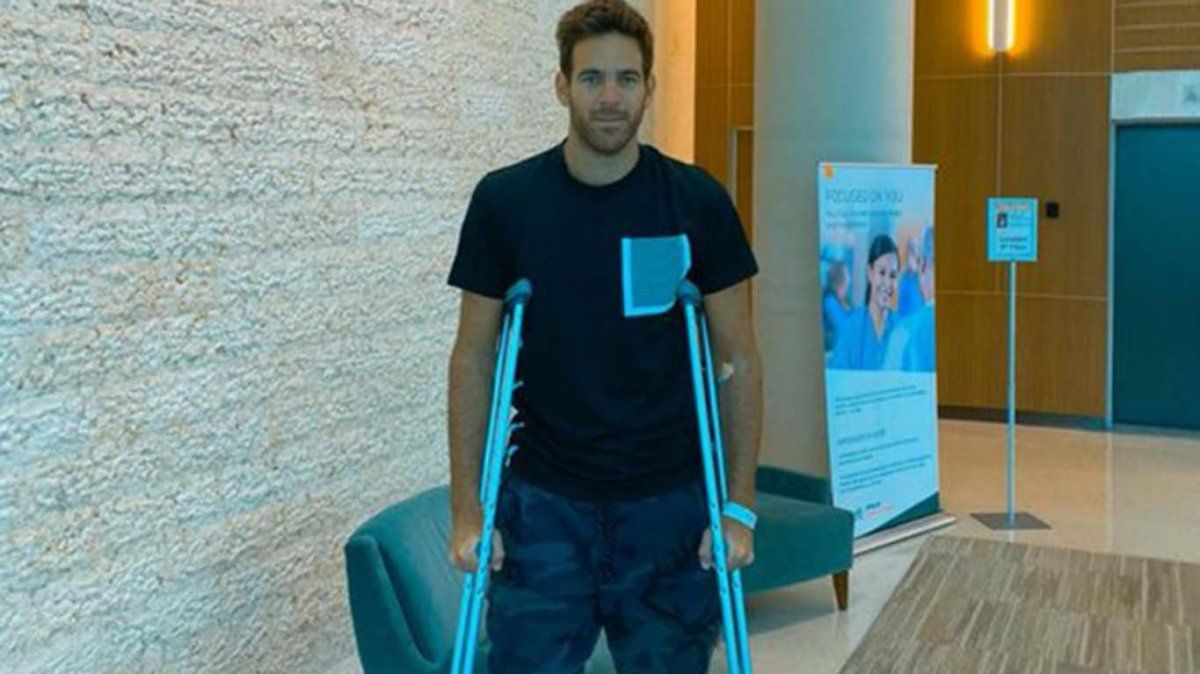El mensaje de Juan Martín Del Potro tras la operación de la rodilla