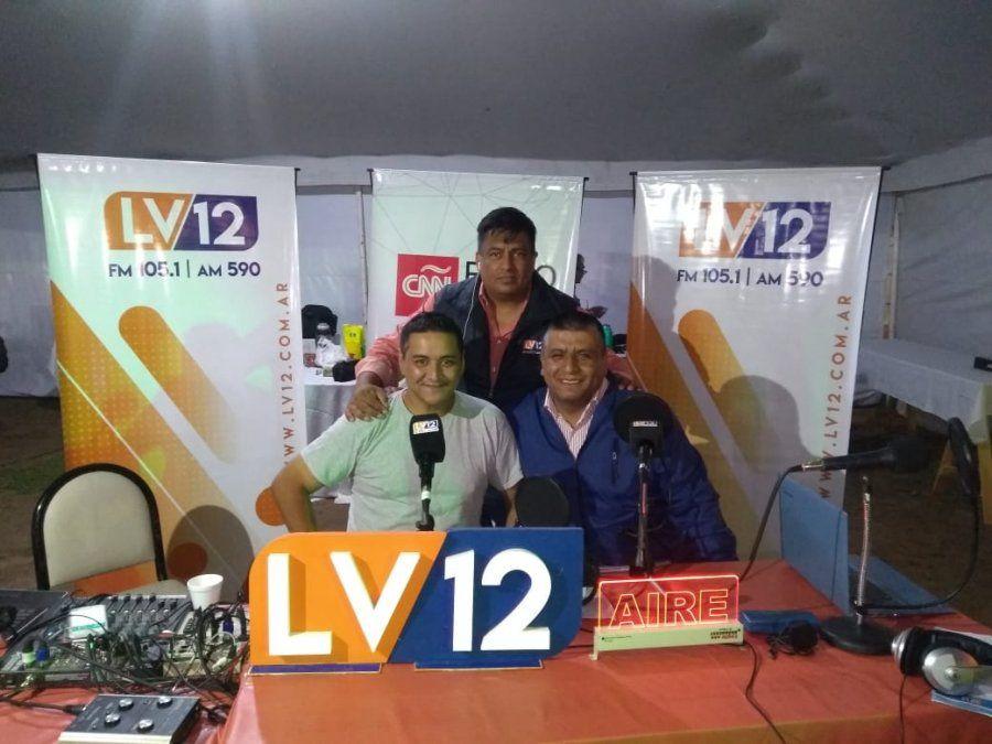 Caliva estuvo en el stand de LV12 y habló sobre las actividades del festival.