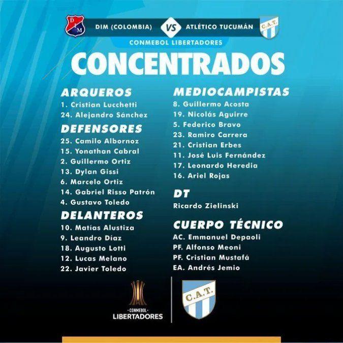 Atlético Tucumán partió rumbo a Colombia