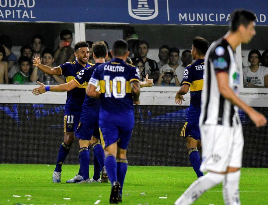 Boca goleó en su visita a Central Córdoba y no le pierde pisada a River