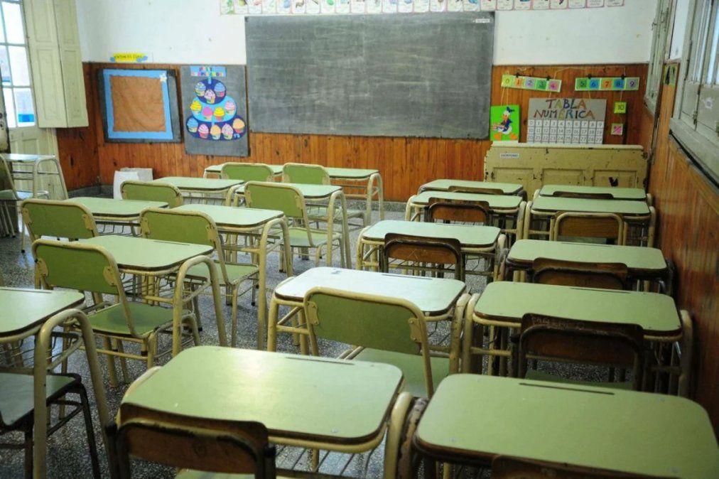 Aulas vacías. El ciclo lectivo 2020 no comenzará en las escuelas públicasde cinco provincias.