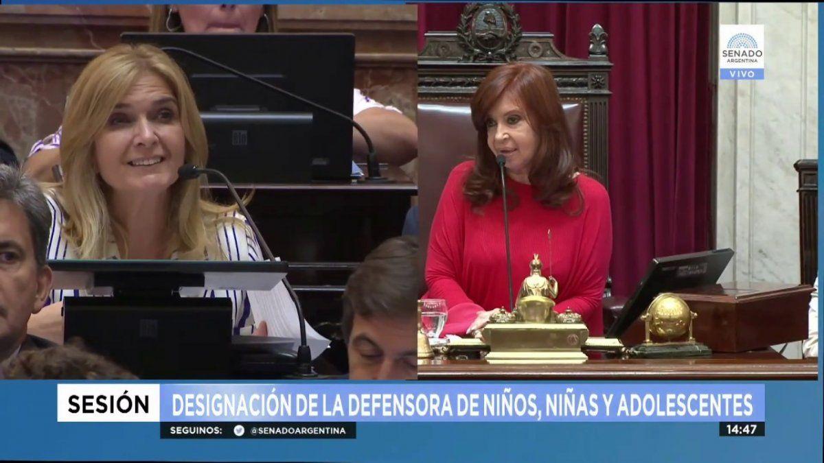 Hubo tensión entre ambas parlamentarias en la sesión.