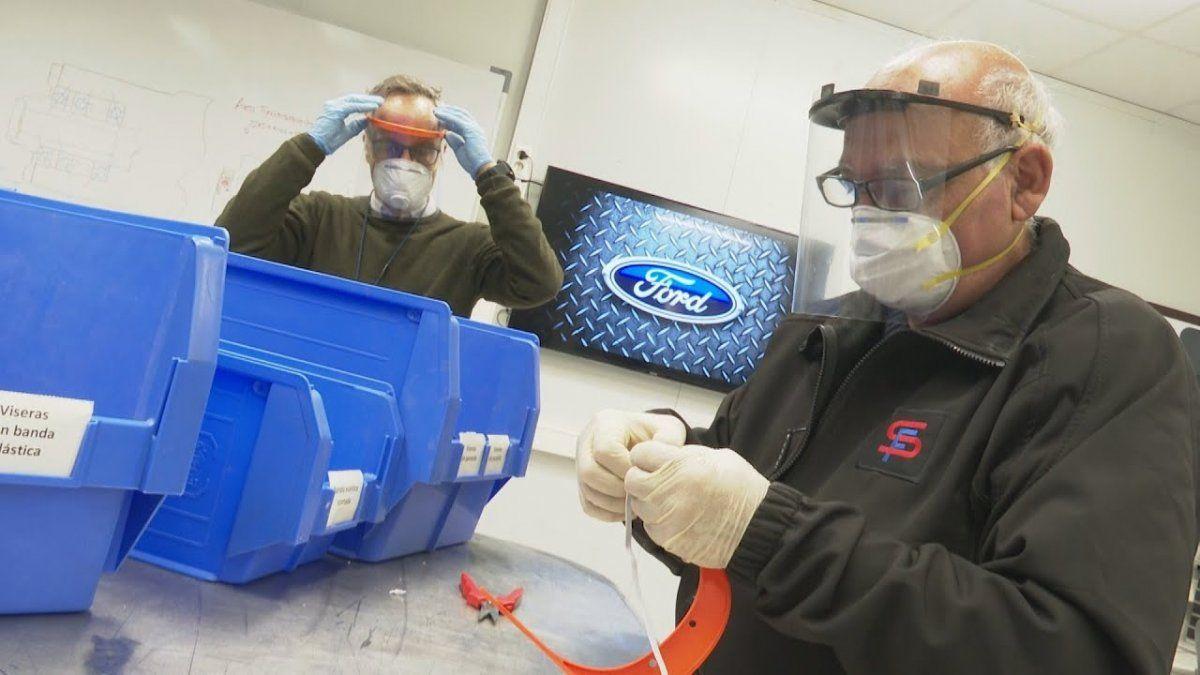 Coronavirus: Ford fabricará protectores faciales para donar