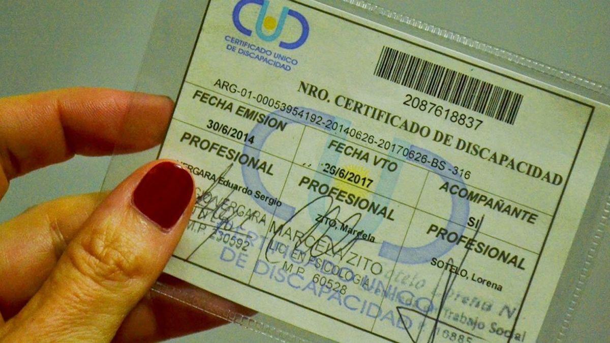 Extienden el vencimiento del Certificado Único de Discapacidad