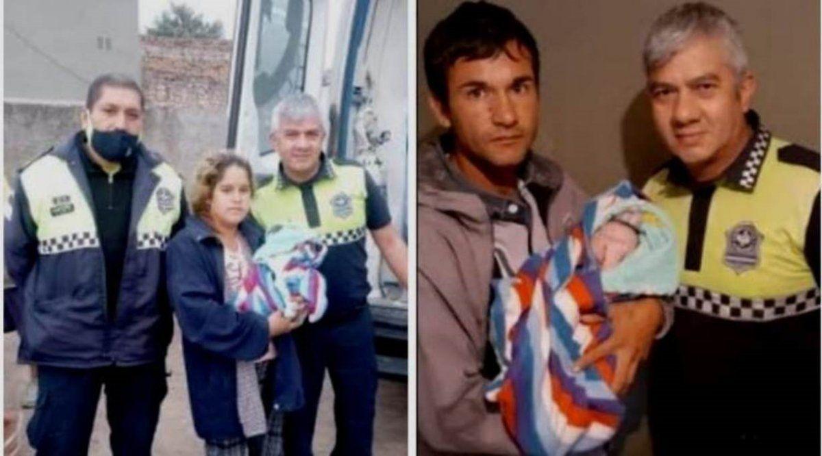 Dos Policías ayudaron a una mujer a dar a luz