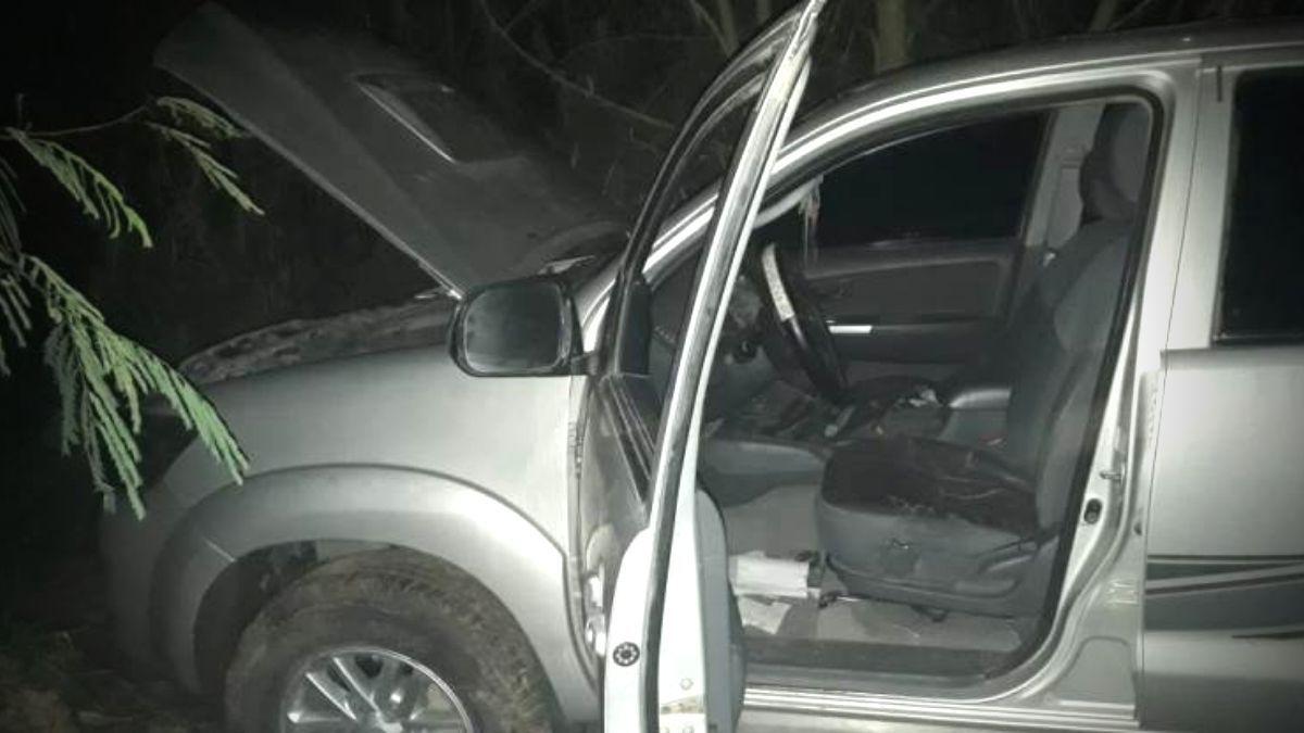 El Naranjito: hallan una camioneta robada