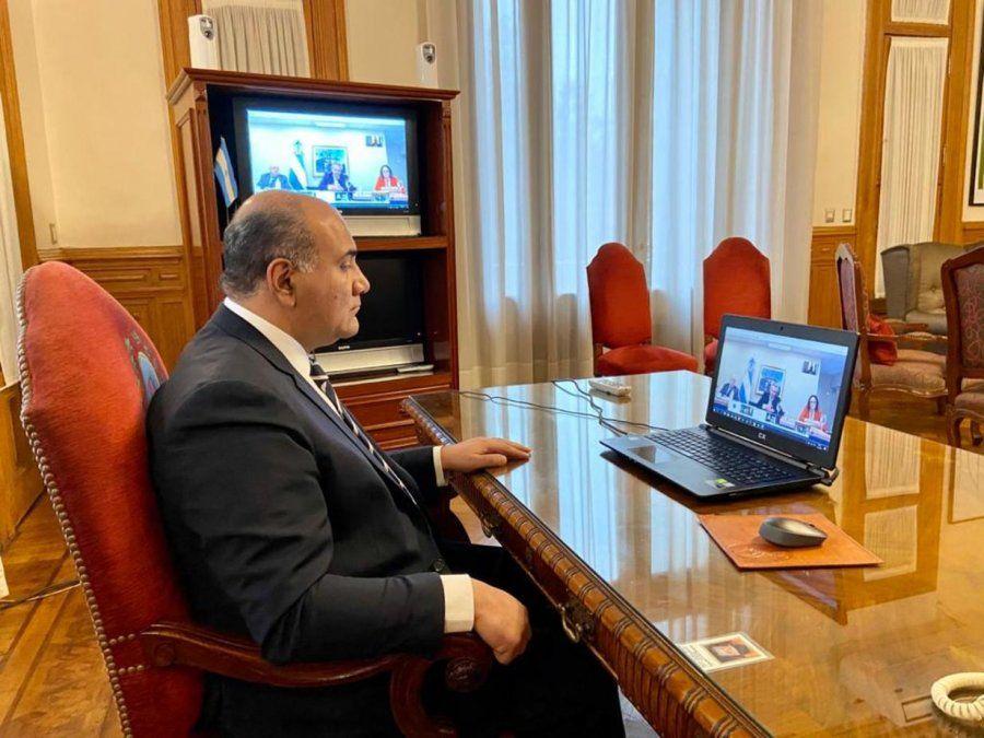 Manzur participó de la videoconferencia del presidente con gobernadores