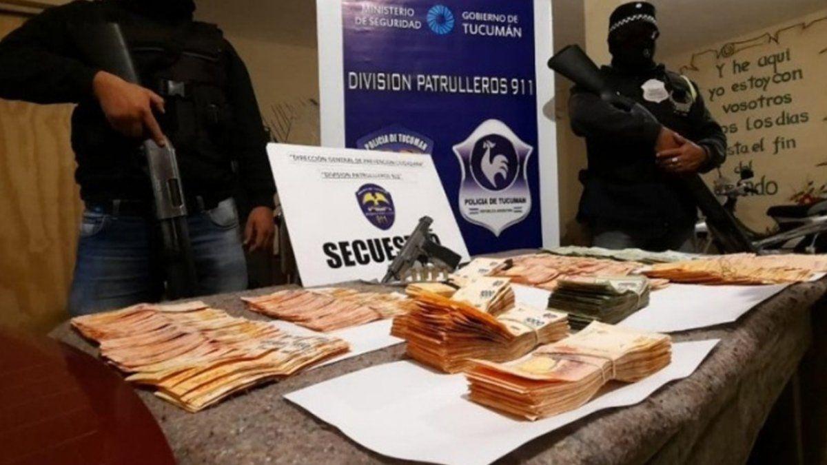 Secuestraron más de un millón de pesos en el Barrio Oeste II