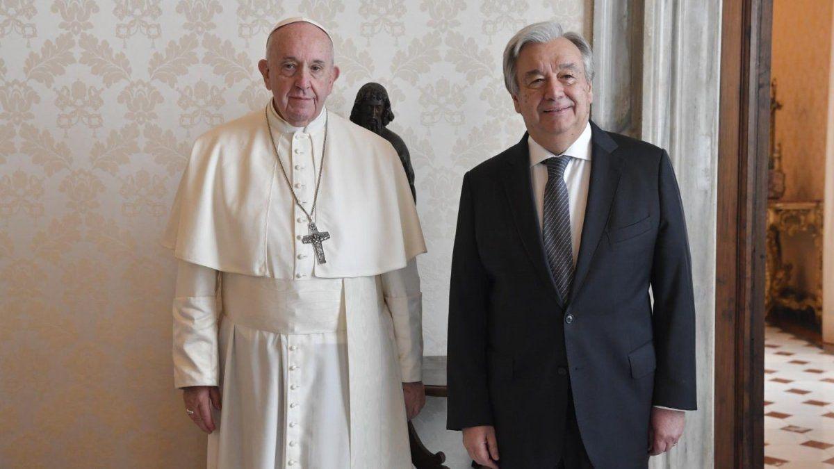Francisco y António Guterres